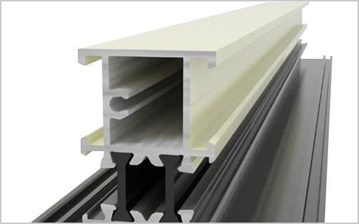 80白色推拉塑钢型材断面